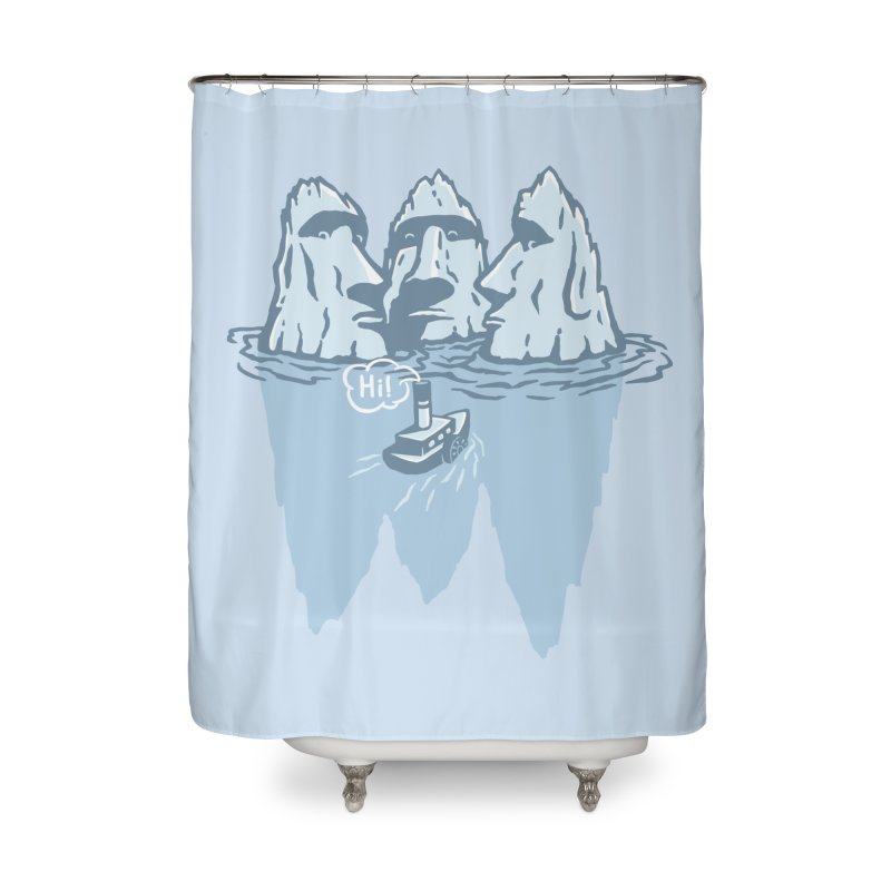 THREE ICEBERGS Home Shower Curtain by gotoup's Artist Shop