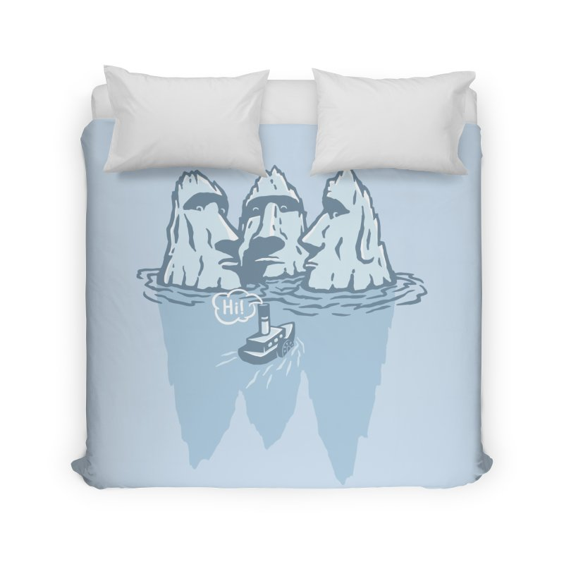THREE ICEBERGS Home Duvet by gotoup's Artist Shop