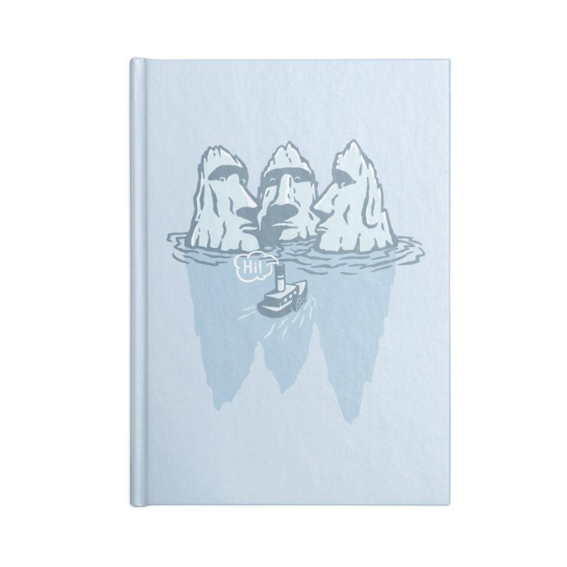 THREE ICEBERGS Accessories Notebook by gotoup's Artist Shop