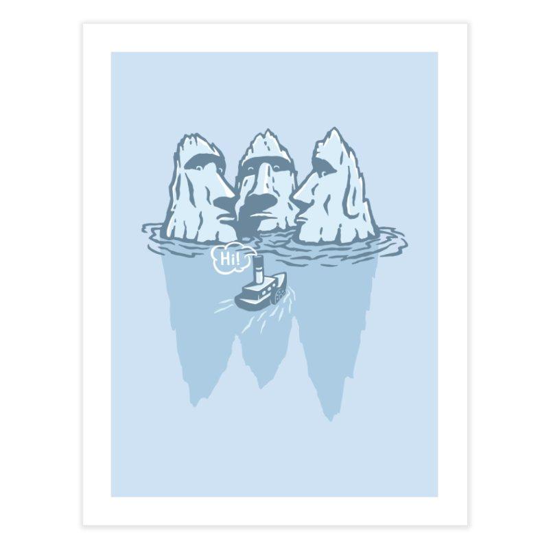 THREE ICEBERGS Home Fine Art Print by gotoup's Artist Shop