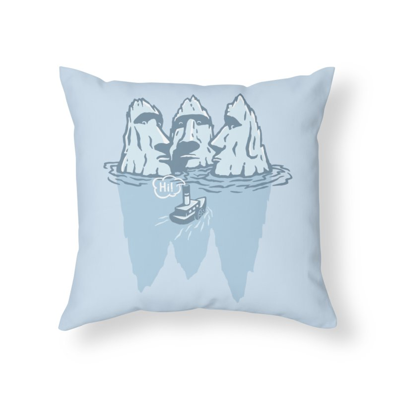 THREE ICEBERGS Home Throw Pillow by gotoup's Artist Shop