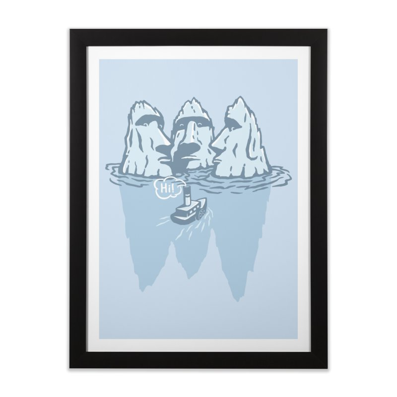 THREE ICEBERGS Home Framed Fine Art Print by gotoup's Artist Shop