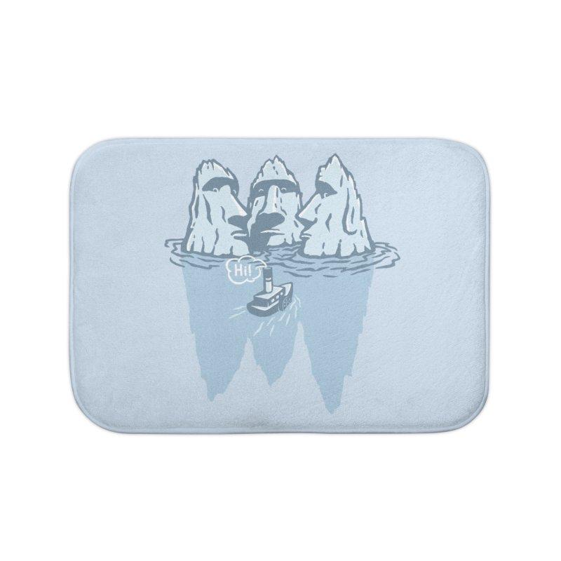THREE ICEBERGS Home Bath Mat by gotoup's Artist Shop