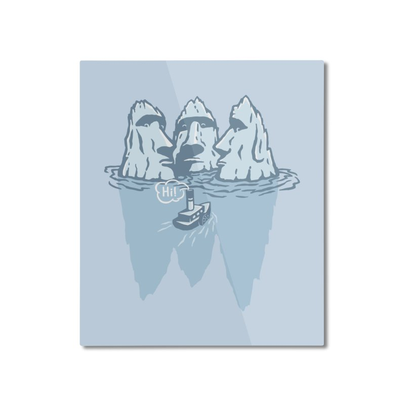 THREE ICEBERGS Home Mounted Aluminum Print by gotoup's Artist Shop