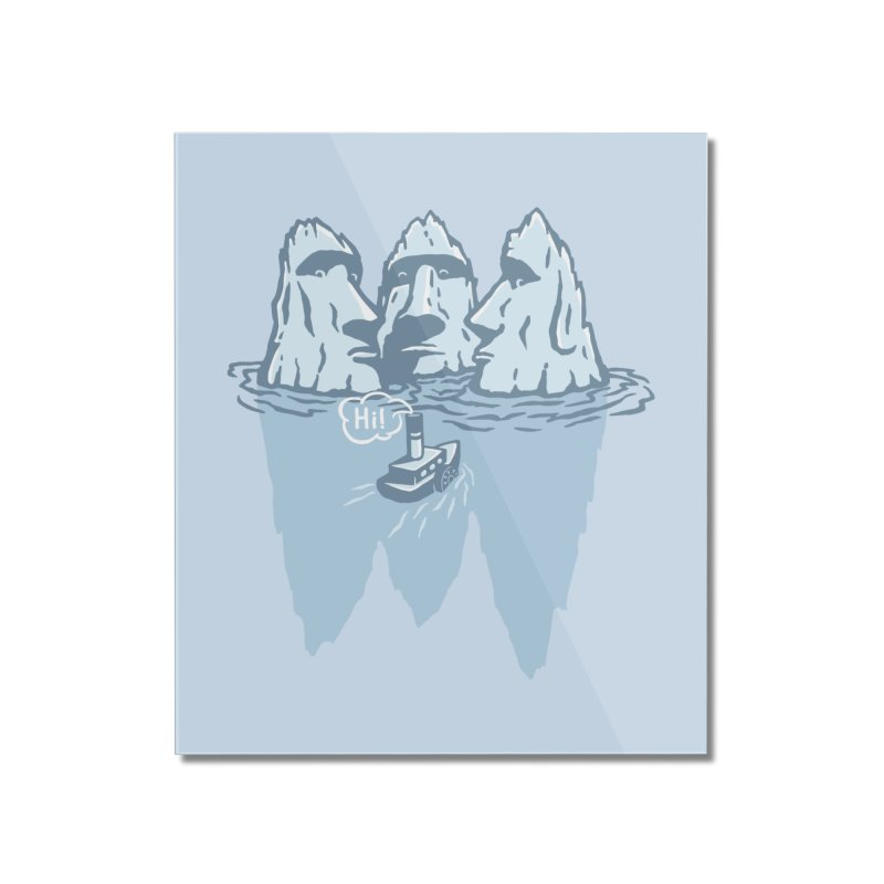 THREE ICEBERGS Home Mounted Acrylic Print by gotoup's Artist Shop