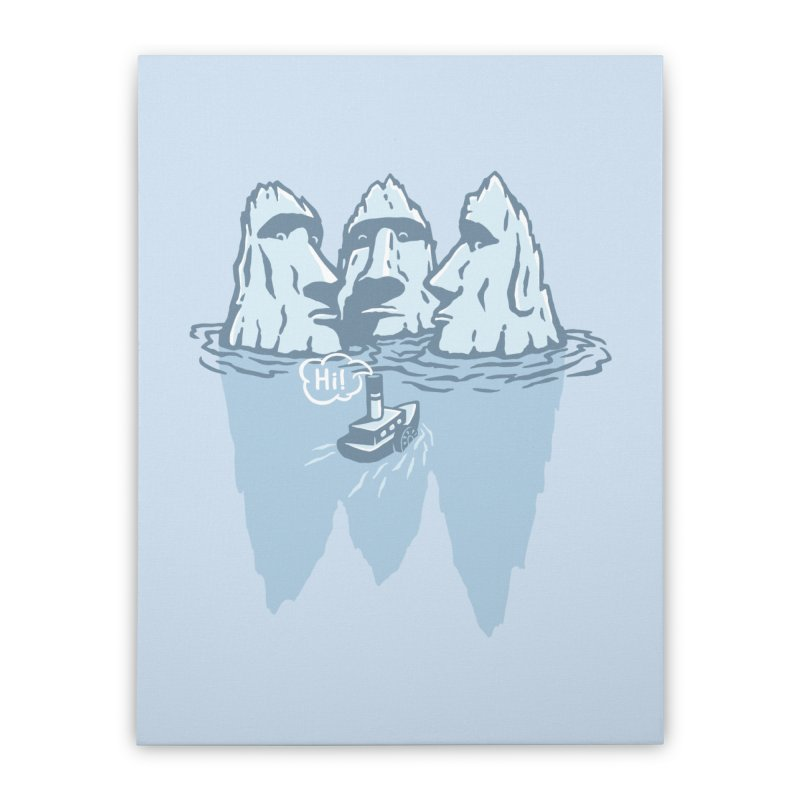 THREE ICEBERGS Home Stretched Canvas by gotoup's Artist Shop