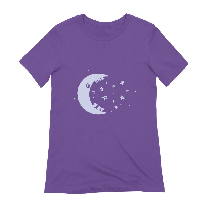 BAD MOON Women's Extra Soft T-Shirt by gotoup's Artist Shop