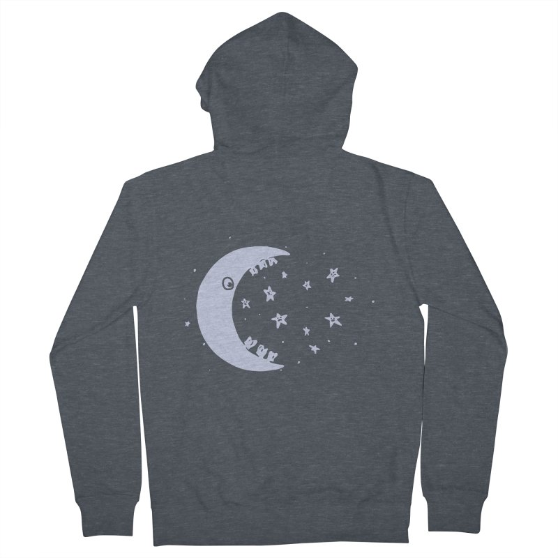 BAD MOON Men's French Terry Zip-Up Hoody by gotoup's Artist Shop