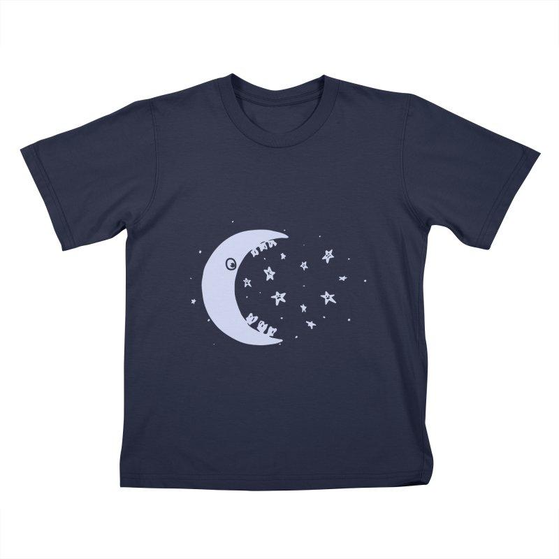 BAD MOON Kids T-Shirt by gotoup's Artist Shop