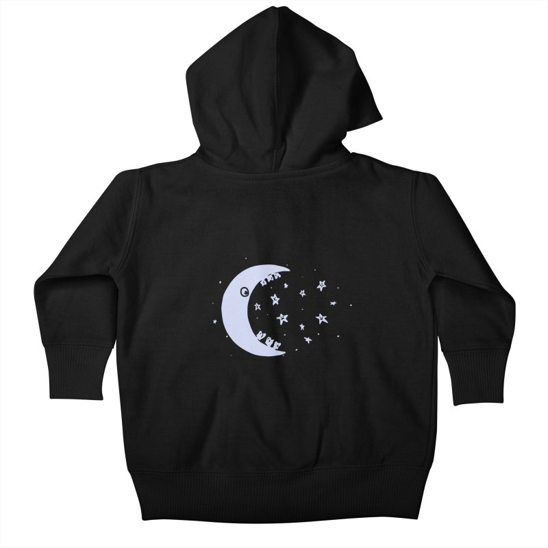 BAD MOON Kids Baby Zip-Up Hoody by gotoup's Artist Shop