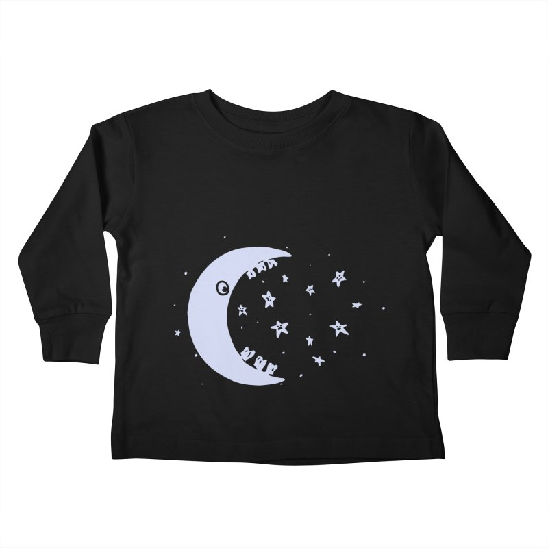 BAD MOON Kids Toddler Longsleeve T-Shirt by gotoup's Artist Shop