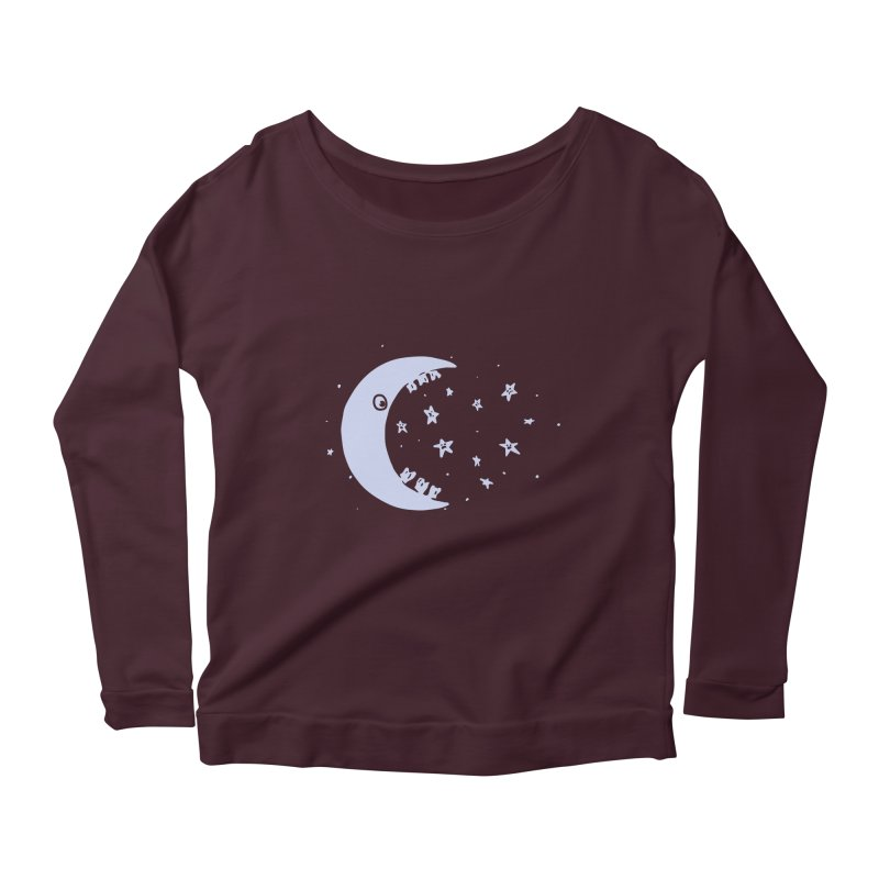 BAD MOON Women's Scoop Neck Longsleeve T-Shirt by gotoup's Artist Shop