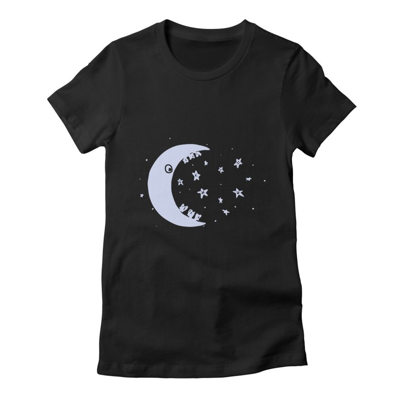 BAD MOON Women's Fitted T-Shirt by gotoup's Artist Shop