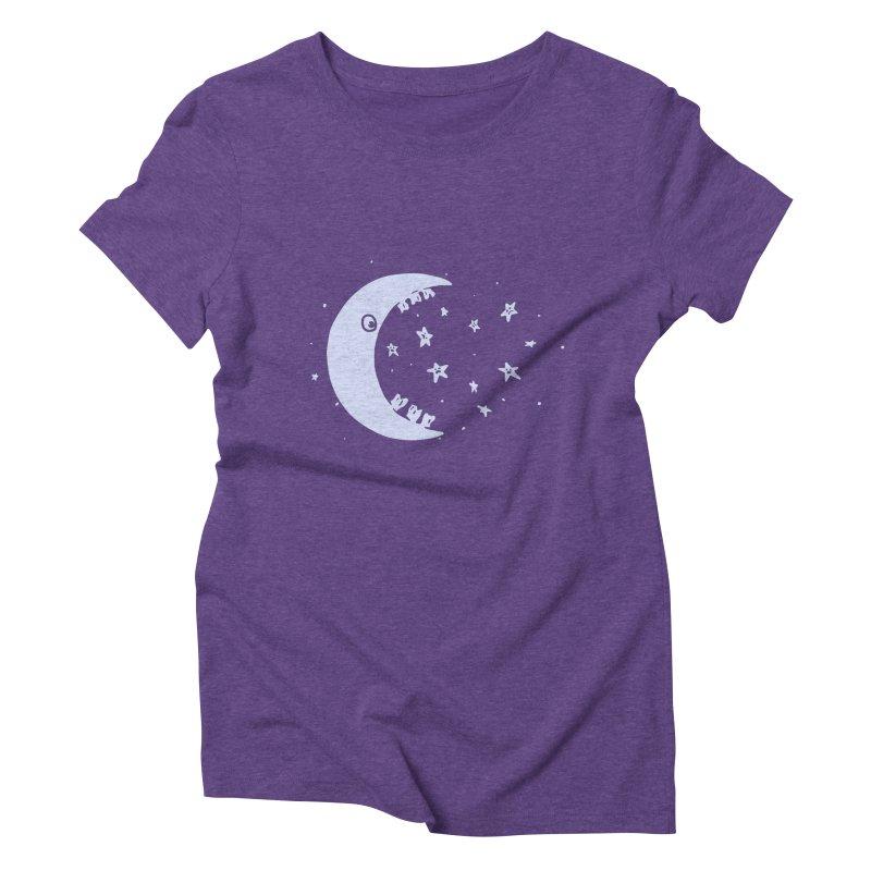 BAD MOON Women's Triblend T-Shirt by gotoup's Artist Shop