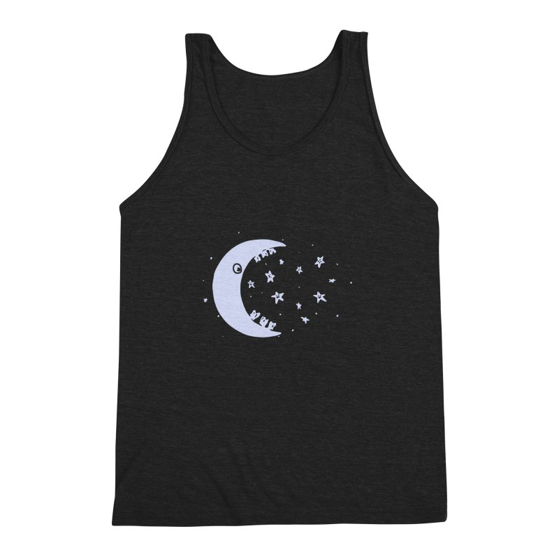 BAD MOON Men's Triblend Tank by gotoup's Artist Shop