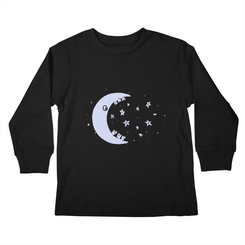 BAD MOON Kids Longsleeve T-Shirt by gotoup's Artist Shop