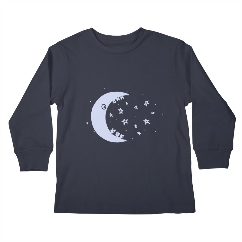BAD MOON Kids Longsleeve T-Shirt by gotoup's Artist Shop