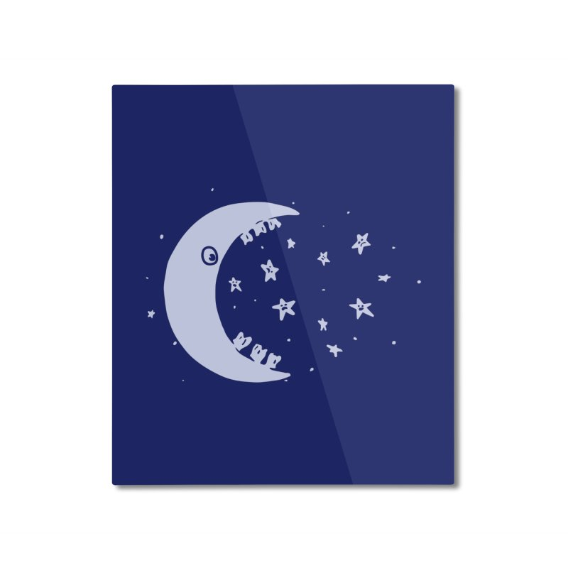 BAD MOON Home Mounted Aluminum Print by gotoup's Artist Shop