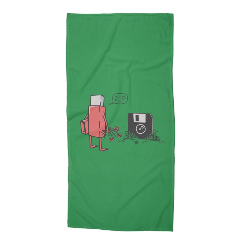 RIP FLOPPY Accessories Beach Towel by gotoup's Artist Shop