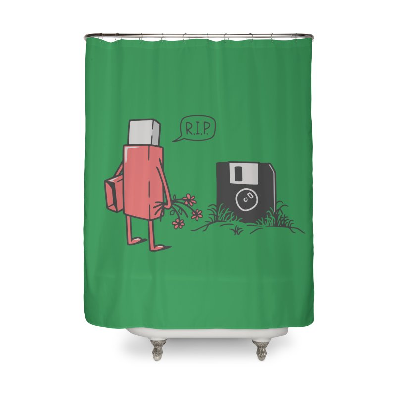 RIP FLOPPY Home Shower Curtain by gotoup's Artist Shop