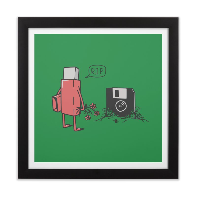 RIP FLOPPY Home Framed Fine Art Print by gotoup's Artist Shop