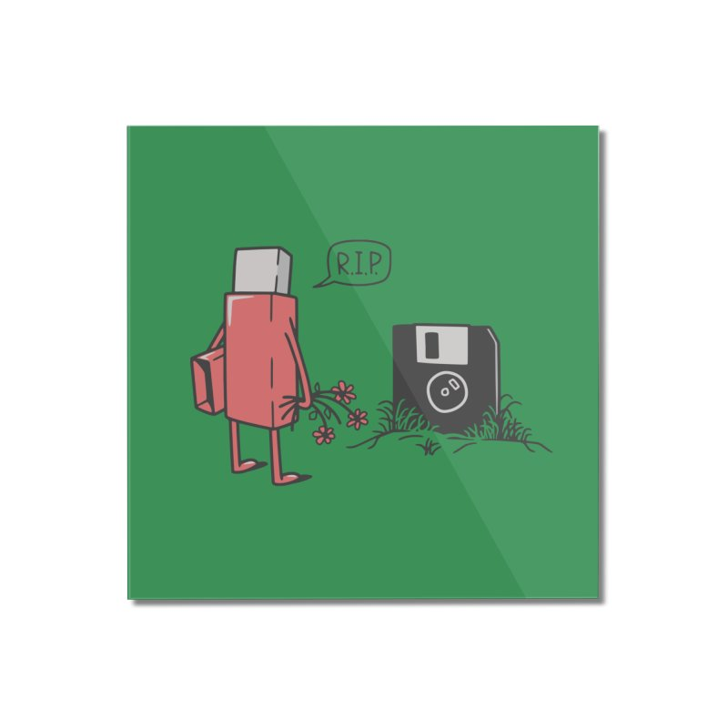 RIP FLOPPY Home Mounted Acrylic Print by gotoup's Artist Shop
