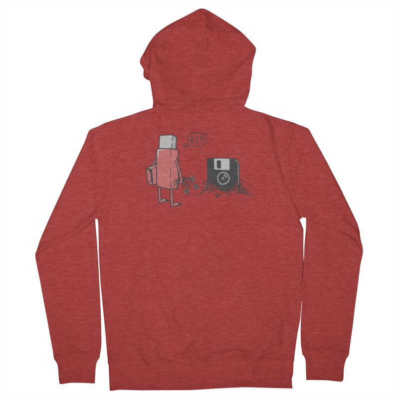 RIP FLOPPY Men's French Terry Zip-Up Hoody by gotoup's Artist Shop