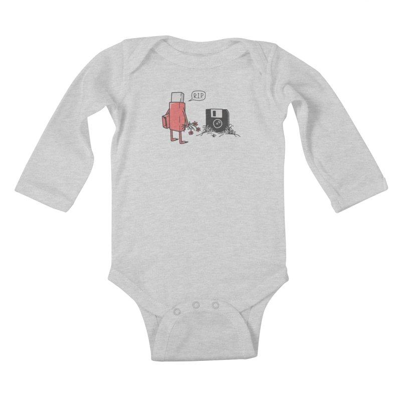 RIP FLOPPY Kids Baby Longsleeve Bodysuit by gotoup's Artist Shop