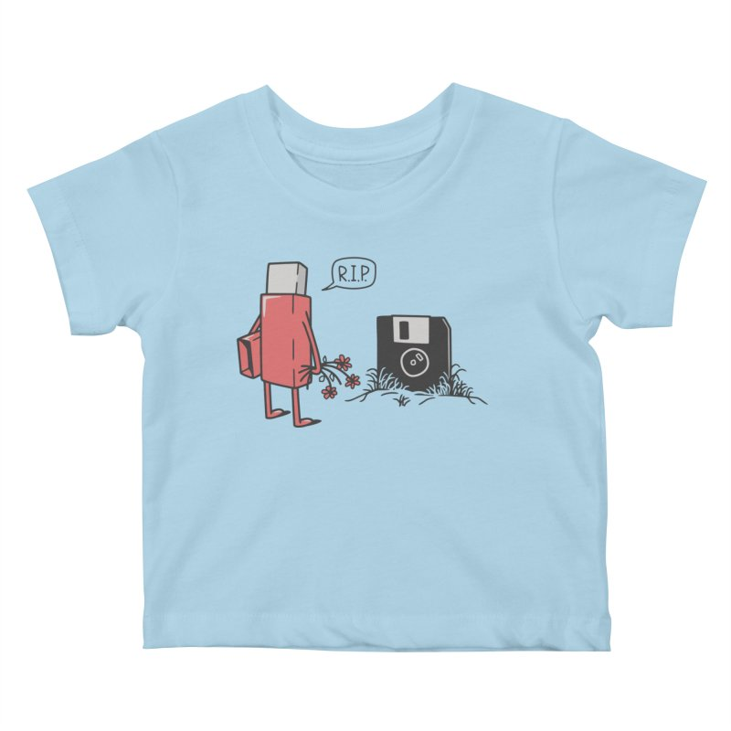 RIP FLOPPY Kids Baby T-Shirt by gotoup's Artist Shop