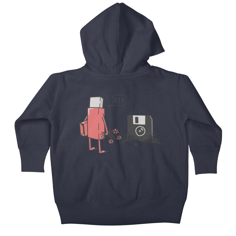 RIP FLOPPY Kids Baby Zip-Up Hoody by gotoup's Artist Shop