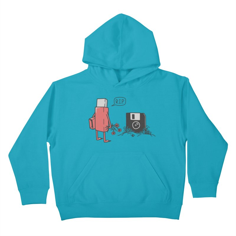 RIP FLOPPY Kids Pullover Hoody by gotoup's Artist Shop