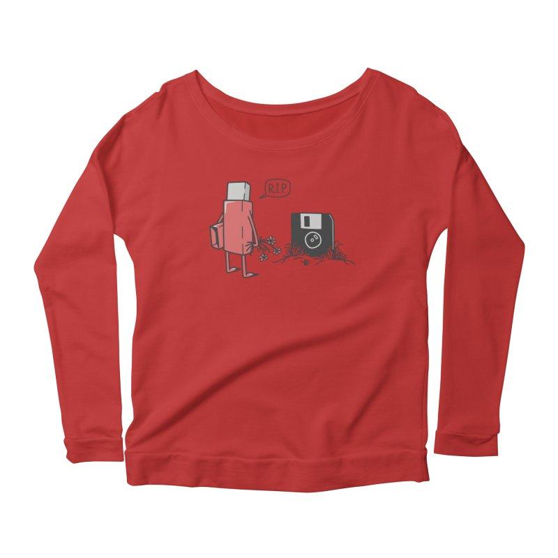 RIP FLOPPY Women's Scoop Neck Longsleeve T-Shirt by gotoup's Artist Shop