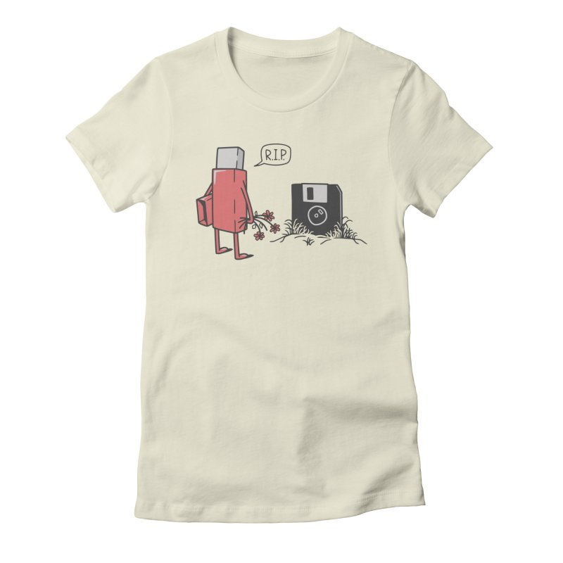RIP FLOPPY Women's Fitted T-Shirt by gotoup's Artist Shop