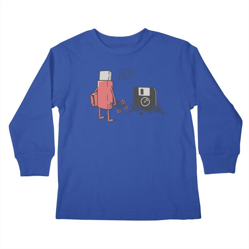 RIP FLOPPY Kids Longsleeve T-Shirt by gotoup's Artist Shop