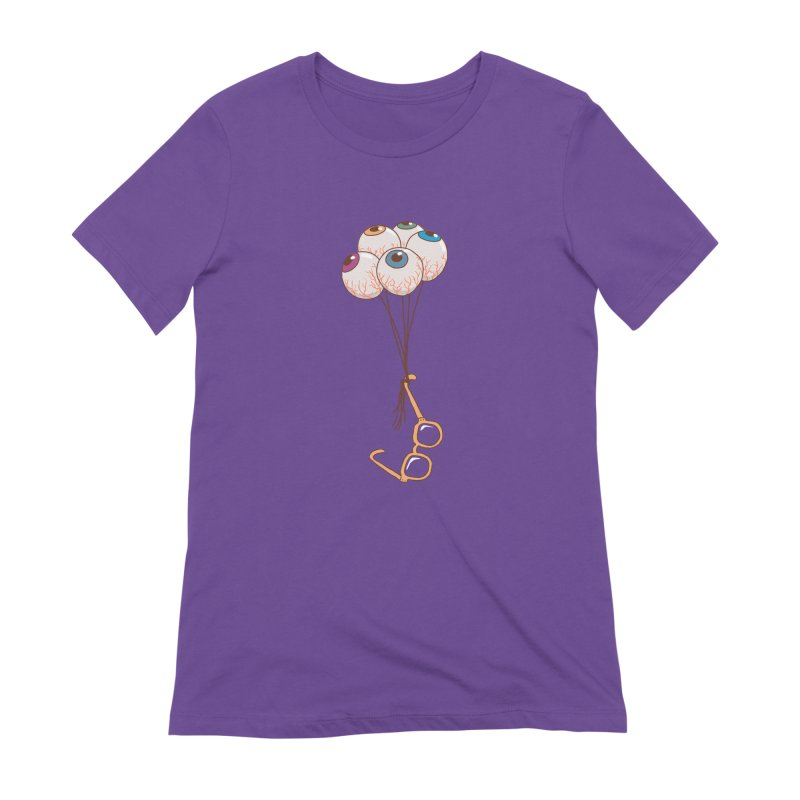 FLYING GLASSES Women's Extra Soft T-Shirt by gotoup's Artist Shop