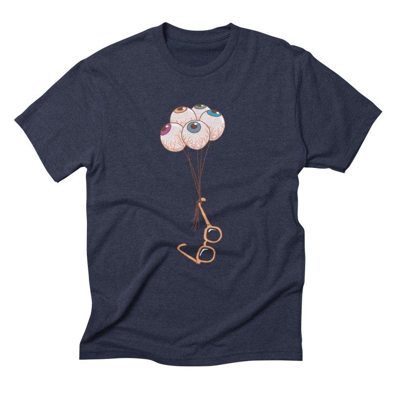 FLYING GLASSES Men's Triblend T-Shirt by gotoup's Artist Shop