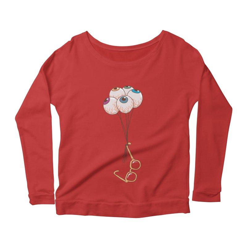 FLYING GLASSES Women's Scoop Neck Longsleeve T-Shirt by gotoup's Artist Shop