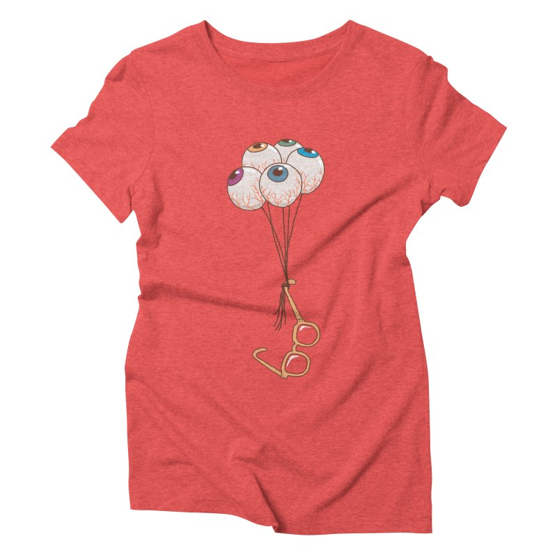 FLYING GLASSES Women's Triblend T-Shirt by gotoup's Artist Shop