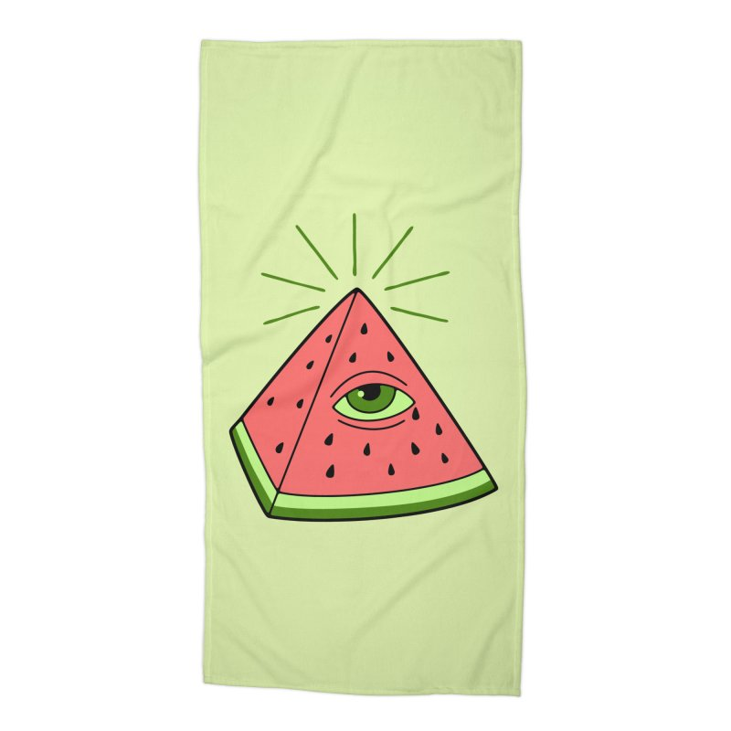 Watermelon Accessories Beach Towel by gotoup's Artist Shop