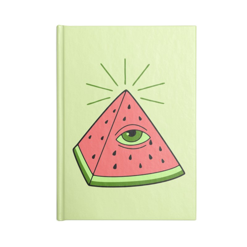 Watermelon Accessories Blank Journal Notebook by gotoup's Artist Shop