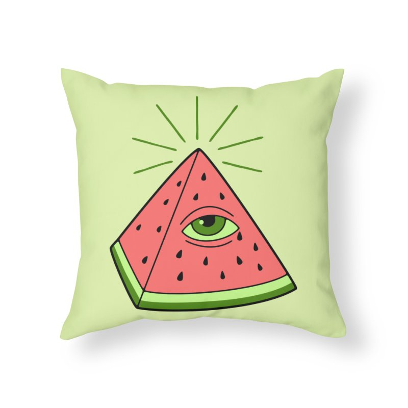 Watermelon Home Throw Pillow by gotoup's Artist Shop