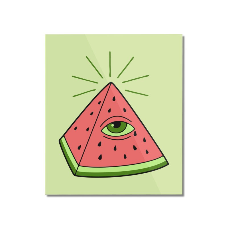 Watermelon Home Mounted Acrylic Print by gotoup's Artist Shop