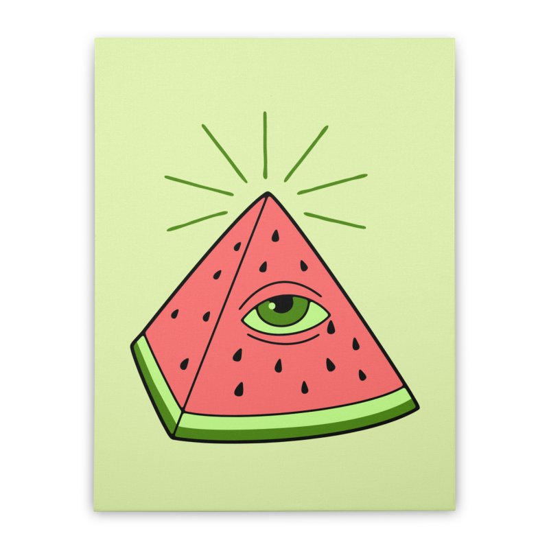 Watermelon Home Stretched Canvas by gotoup's Artist Shop