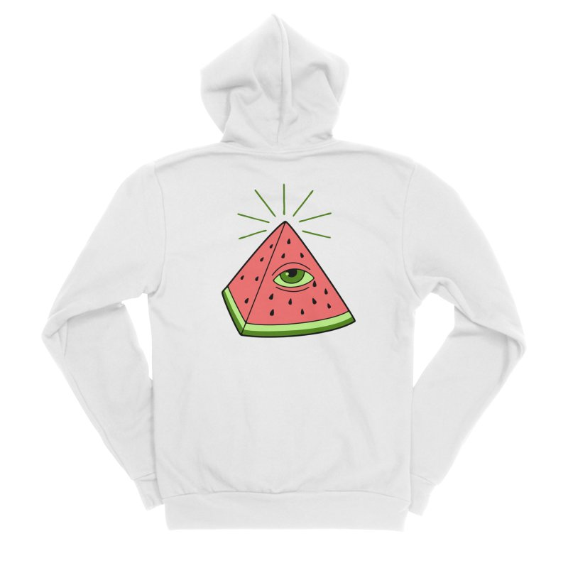 Watermelon Men's Sponge Fleece Zip-Up Hoody by gotoup's Artist Shop