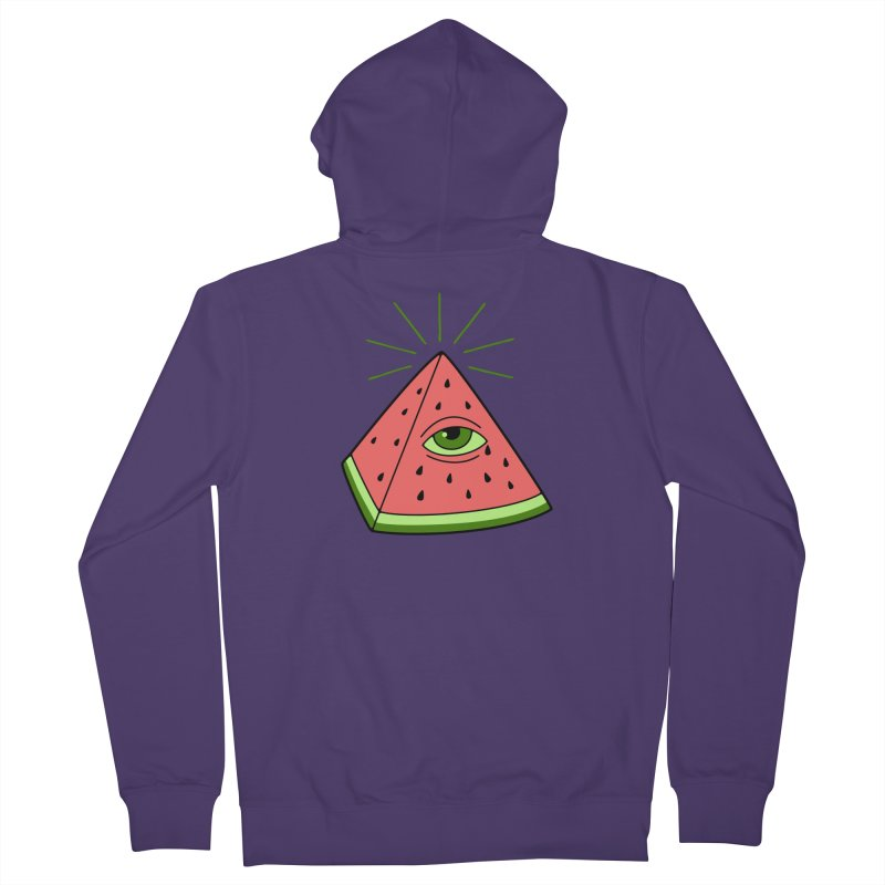 Watermelon Women's French Terry Zip-Up Hoody by gotoup's Artist Shop