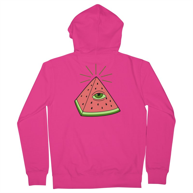 Watermelon Men's French Terry Zip-Up Hoody by gotoup's Artist Shop