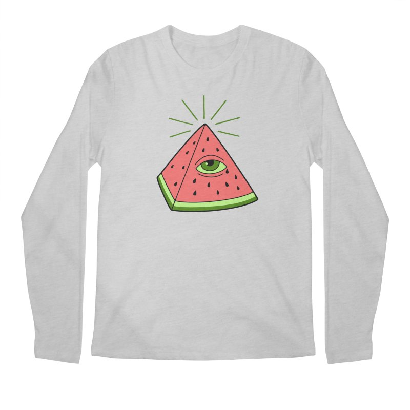 Watermelon Men's Regular Longsleeve T-Shirt by gotoup's Artist Shop