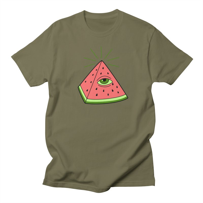 Watermelon Women's Regular Unisex T-Shirt by gotoup's Artist Shop
