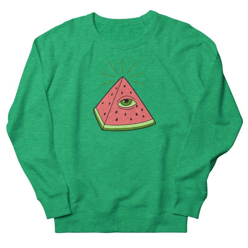 Watermelon Men's French Terry Sweatshirt by gotoup's Artist Shop