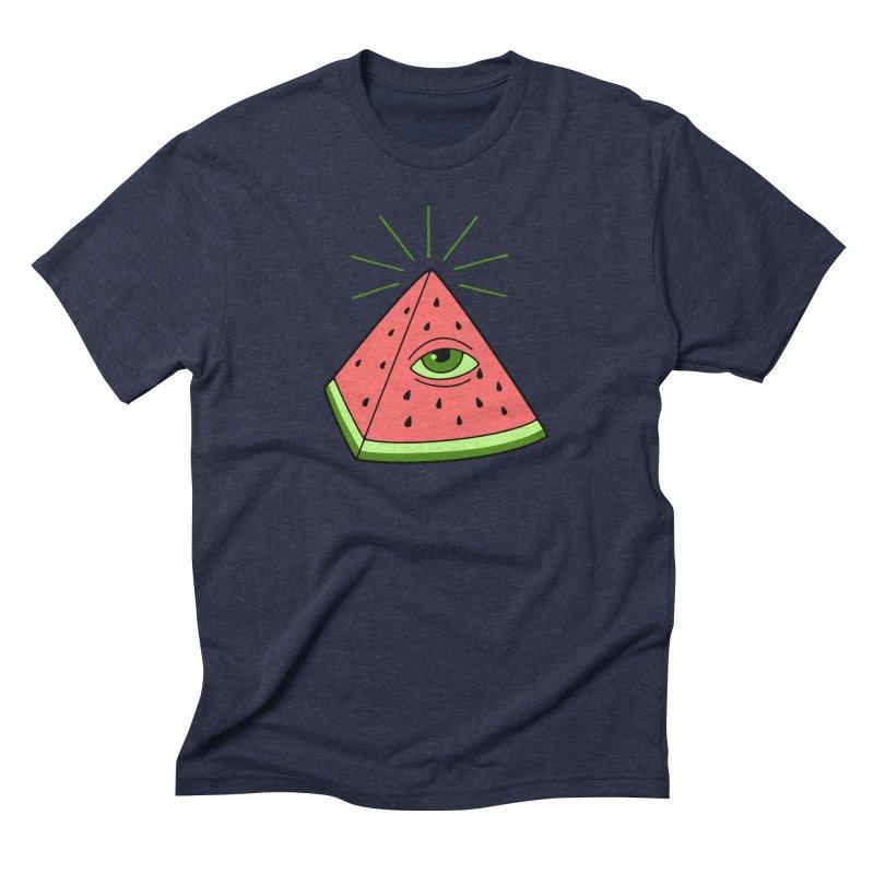 Watermelon Men's Triblend T-Shirt by gotoup's Artist Shop